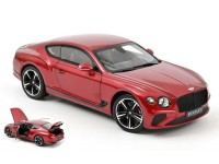 NOREV 1/18 BENTLEY CONTINENTAL GT 2018 CANDY RED MODELLINO