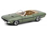 Greenlight 1/18 Dodge Challenger R/T Convertible - F8 verde metallizzato modellino