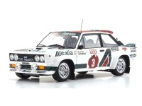 KYOSHO 1/18 FIAT 131 ABARTH RALLY MILLE LAGHI 1978 DIECAST CON APERTURE