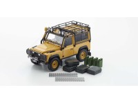 Kyosho 1/18 Land Rover Defender 90 giallo diecast con aperture