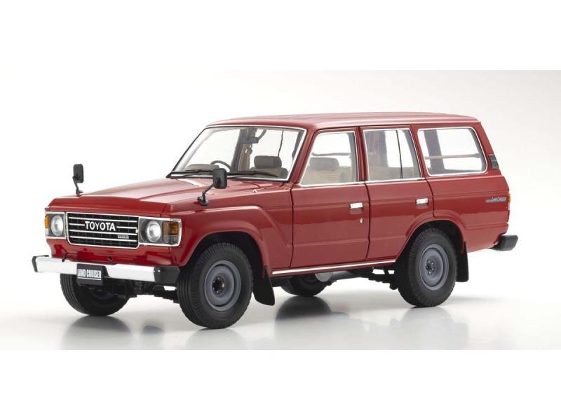 Kyosho 1/18 Toyota Land Cruiser 60 rosso diecast con aperture