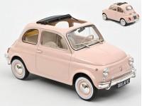 NOREV 1/18 FIAT 500 L 1968 ROSA TETTUCCIO APERTO MODELLINO
