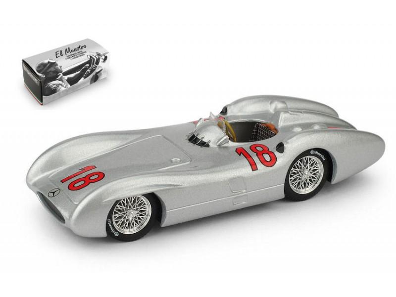 BRUMM 1/43 MERCEDES W196C GP FRANCIA 1954 FANGIO MODELLINO