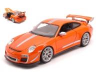 BURAGO 1/18 PORSCHE 911 GT3 RS 4.0 2012 ORANGE MODELLINO