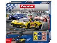Carrera Digital 132 pista elettrica Spirit of Speed con 3 modellini slot inclusi