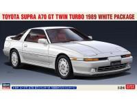Hasegawa 1/24 Toyota Supra A70 GT Twin Turbo 1989 Pacchetto bianco scatola di montaggio