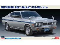 Hasegawa 1/24 Mitsubishi Colt Galant GTO-M II kit di montaggio