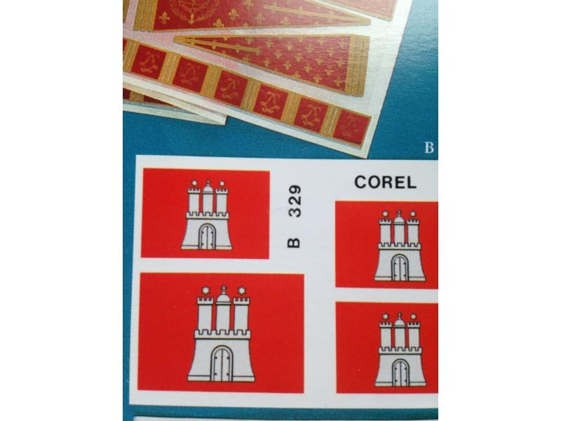 Serie bandiere wappen von hamburg B329 corel
