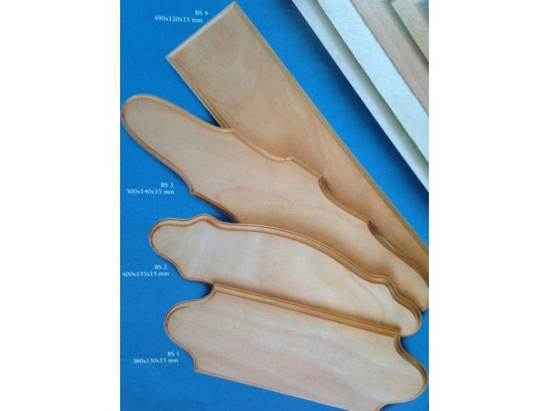 Base sagomata in legno 490x120x15mm corel