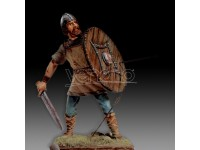 AMATI SOLDATINO FIGURINO 75MM GUERRIERO VICHINGO MINIATURA IN METALLO