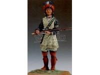 AMATI SOLDATINO FIGURINO 75MM GUERRIERO SEMINOLE MINIATURA IN METALLO