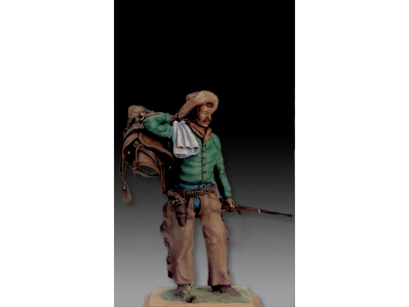 AMATI SOLDATINO FIGURINO 75MM COW BOY MINIATURA IN METALLO
