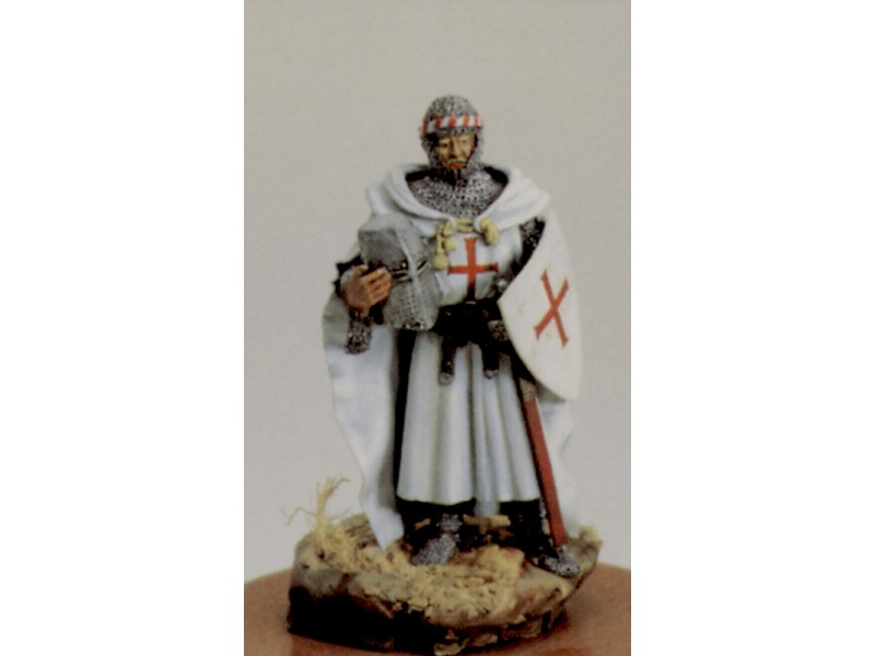 AMATI SOLDATINO FIGURINO 75MM CAVALIERE TEUTONICO MINIATURA IN METALLO