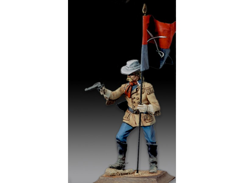 AMATI SOLDATINO FIGURINO 75MM GENERALE CUSTER MINIATURA IN METALLO