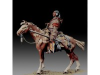 AMATI SOLDIER FIGURE 75MM INDIAN GUIDE A MINIATURE METAL HORSE