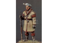 AMATI SOLDIER FIGURE 75MM INDIAN GUIDE A FEET MINIATURE METAL