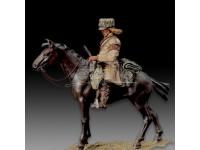 AMATI SOLDIER FIGURE 75MM TRAPPER A MINIATURE METAL HORSE