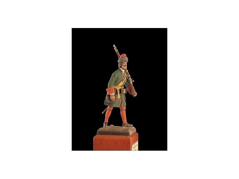 AMATI SOLDATINO FIGURINO 75MM Granatiere Russo - Pietro il Grande 1720 MINIATURA IN METALLO