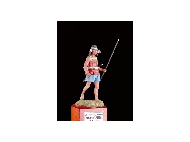 AMATI SOLDATINO FIGURINO 75MM Samurai Ashigaru - 1553 MINIATURA IN METALLO