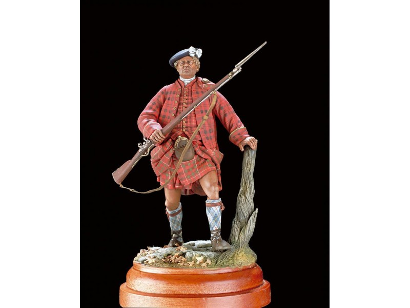 AMATI SOLDATINO FIGURINO 90MM Highland Clansman 1745 MINIATURA IN METALLO