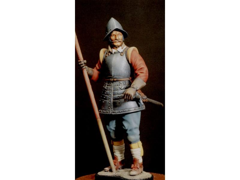 AMATI SOLDATINO FIGURINO 120MM Picchiere - Guerra Civile Inglese MINIATURA IN RESINA