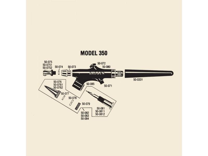 BADGER 50-0752 Ugello aria grande