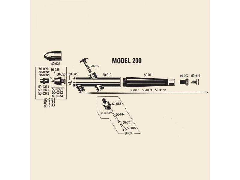 BADGER 50-0161 TESTINA COMPLETA XF
