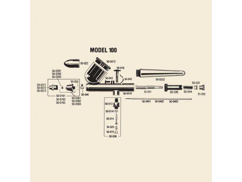 BADGER 50-044 Molla posteriore regolazione ago