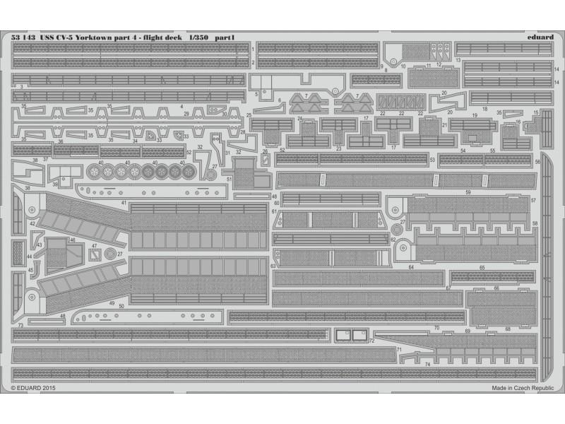 FOTOINCISIONI EDUARD PER USS CV-5 Yorktown part.4 flight deck (Merit)