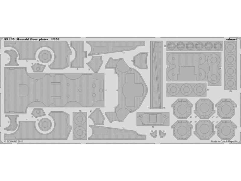 FOTOINCISIONI EDUARD PER Musashi floor plates 1:350 (Tamiya)