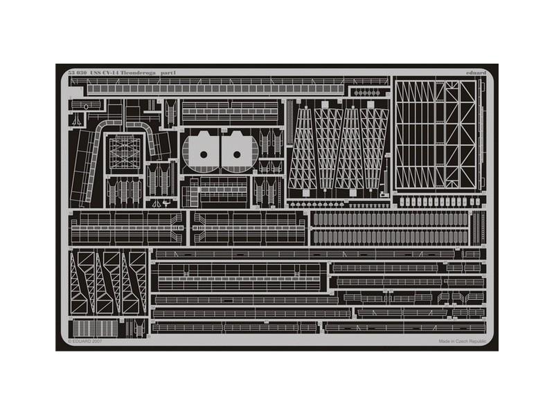 FOTOINCISIONI EDUARD PER USS-CV-14 Ticond.(Trumpeter)-1:350