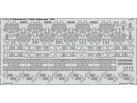 FOTOINCISIONI EDUARD PER USS Missouri p.2-Bofors 40 quadr. 1:200 (Trumpeter)