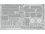 FOTOINCISIONI EDUARD PER USS Missouri p.3-crane and catap. 1:200 (Trumpeter)