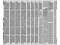 FOTOINCISIONI EDUARD PER USS Missouri p.4-floater net baskets 1:200 (Trumpeter)