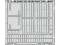 FOTOINCISIONI EDUARD PER USS Missouri part.10-hull plates 1:200 (Trumpeter)