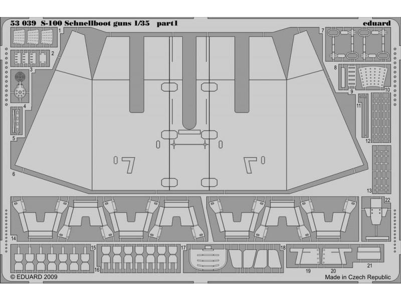 FOTOINCISIONI EDUARD PER S-100 schnellboot guns (Italeri)1:35