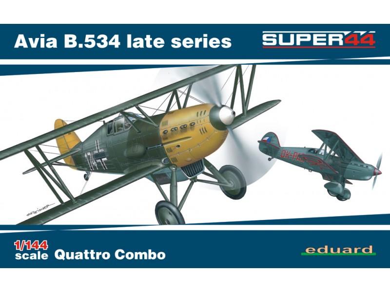 EDUARD KIT MODELLISMO AEREO Avia B.534 late series Quattro Combo (Super44)