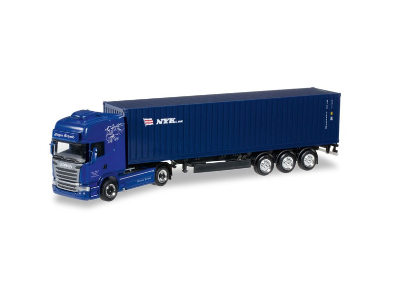 "MODELLISMO HERPA MODELLINO CAMION CONTAINER Scania R TL ""Jürgen Schmid Transporte / NYK"" 1/87"