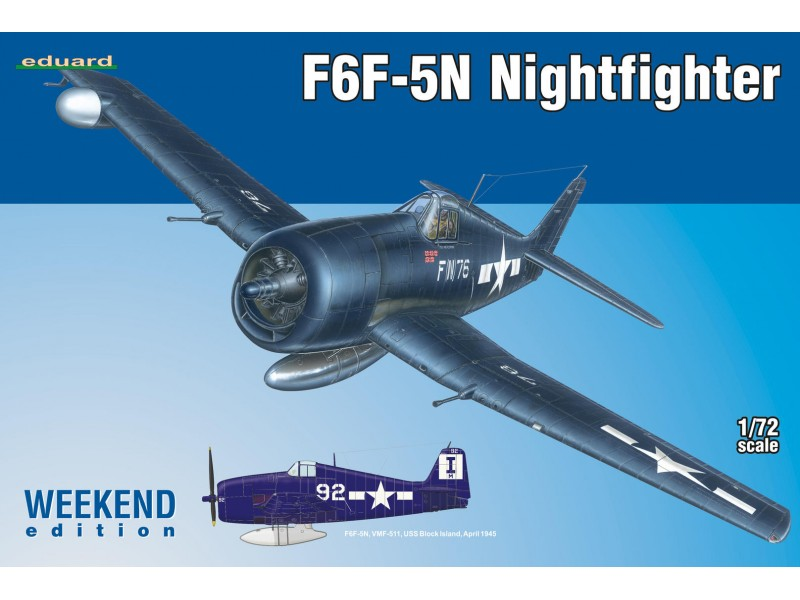 EDUARD KIT MODELLISMO AEREO F6F-5N Nightfighter (Weekend edition)