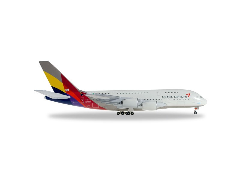 MODELLISMO HERPA MODELLINO AEREO HL7626 Asiana Airlines Airbus A380-800