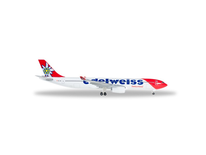 MODELLISMO HERPA MODELLINO AEREO HB-JHR Edelweiss Air Airbus A330-300 new 2016 colors