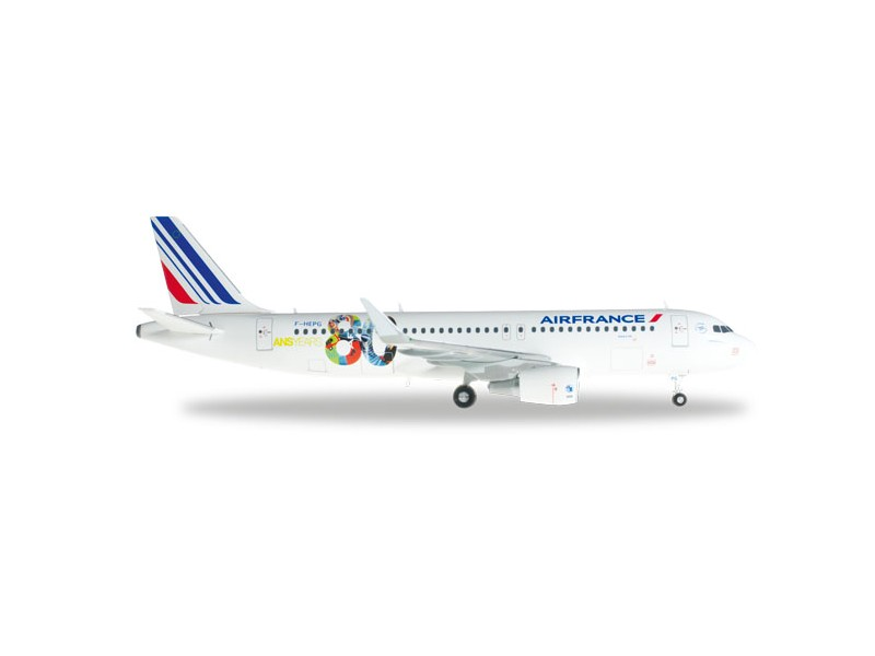 "MODELLISMO HERPA MODELLINO AEREO Air France Airbus A320 ""80th Anniversary"""