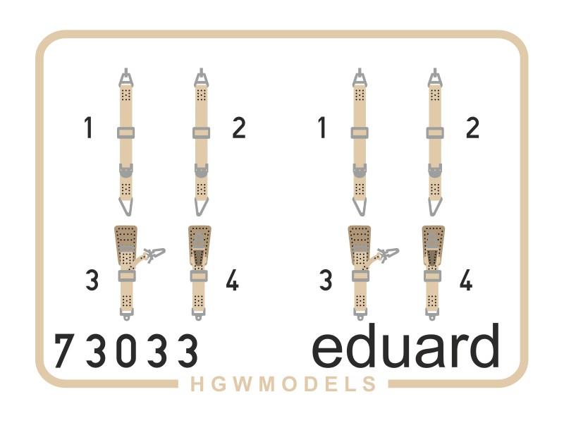 FOTOINCISIONI MODELLISMO EDUARD PER Fw 190A-8 seatbelts SUPERFABRIC (Eduard)