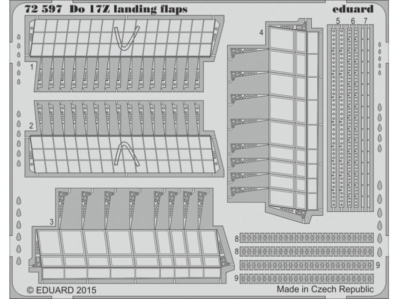 FOTOINCISIONI MODELLISMO EDUARD PER Do 17Z landing flaps (Airfix)