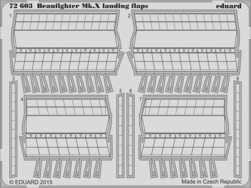 FOTOINCISIONI MODELLISMO EDUARD PER Beaufighter Mk.X landing flaps (Airfix)
