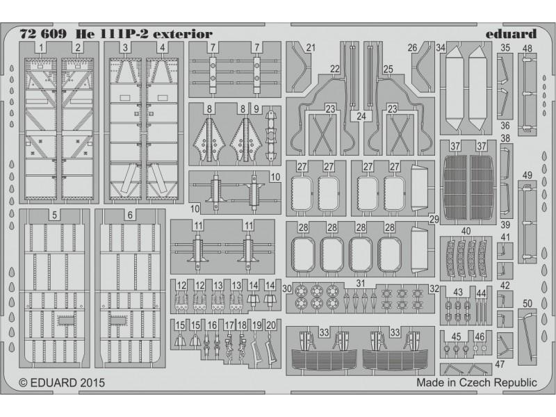 FOTOINCISIONI MODELLISMO EDUARD PER He 111P-2 exterior (Airfix)
