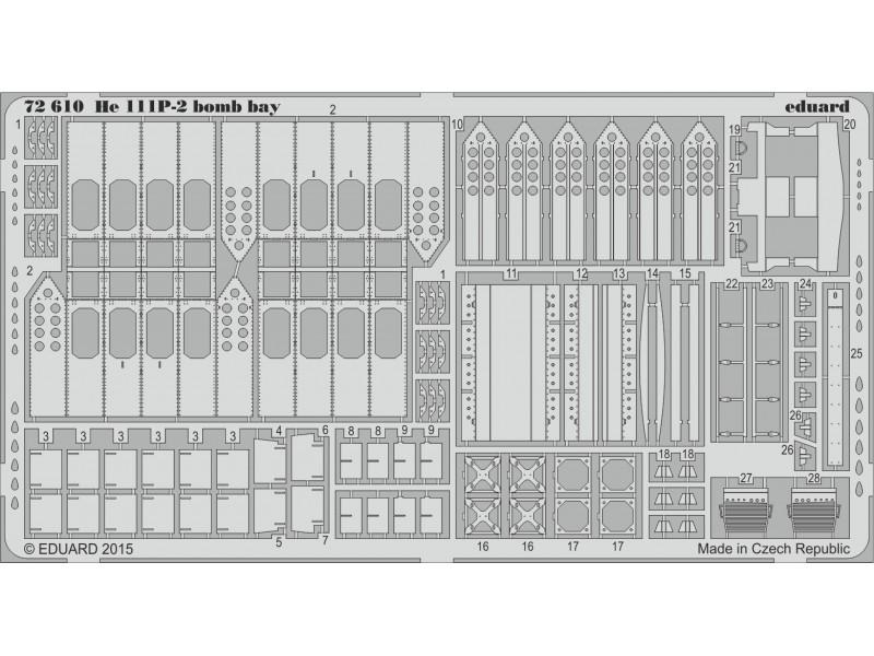 FOTOINCISIONI MODELLISMO EDUARD PER He 111P-2 bomb bay (Airfix)