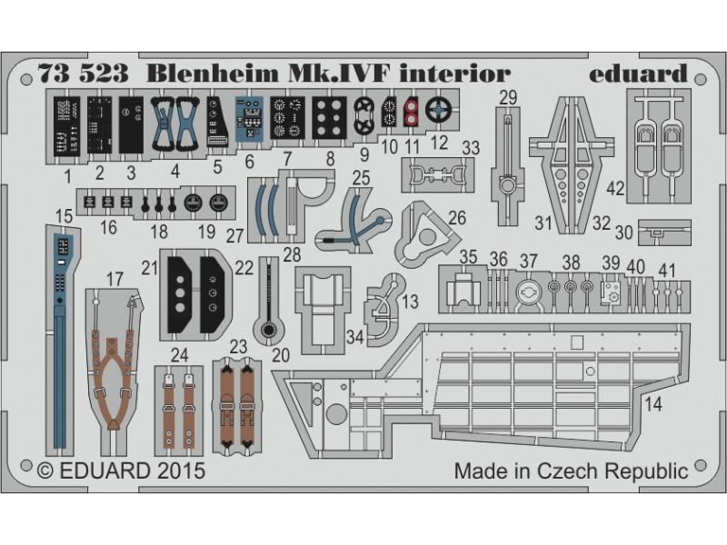 FOTOINCISIONI MODELLISMO EDUARD PER Blenheim Mk.IVF interior self ad (Airfix)