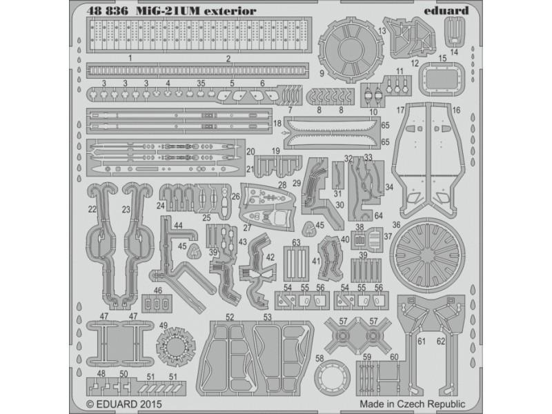 FOTOINCISIONI EDUARD 1/48 PER MiG-21 UM exterior (Trumpeter)