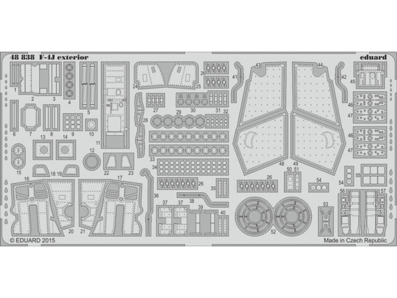 FOTOINCISIONI EDUARD 1/48 PER F-4J exterior (Academy)